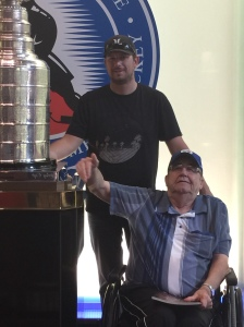 Another dream..touching the Stanley cup!